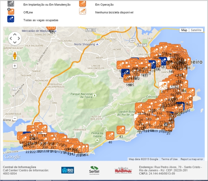 Bike Corrals are all over the city of Rio De Janeiro