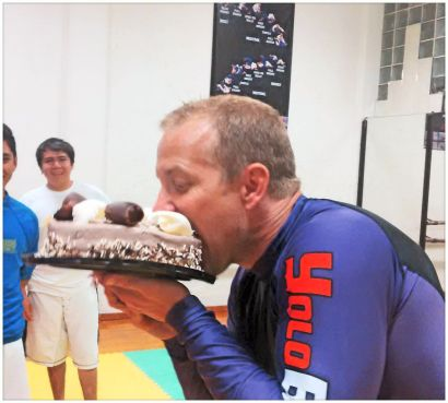 The crew at BJJ Cozumel surprised me with a B-Day cake after just two weeks of training with them!