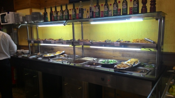 One half of the buffet at our fave Por Kilo place.