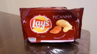 "Not to be ""out-Brazil'ed"" Lays has their ""Picanha"" flavored (Grilled steak with fat and salt) flavor!"