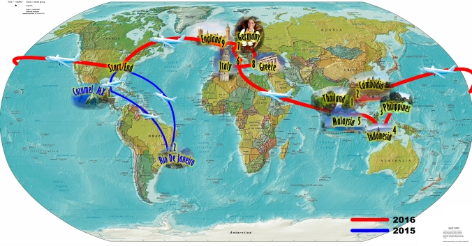 My travel plans to-date. (Subject to change as cool stuff happens :-) )