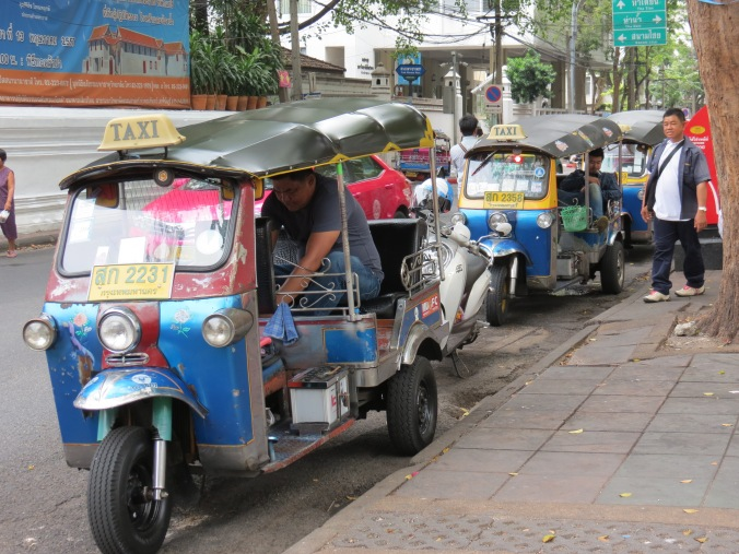 Colorful Tuk Tuks will take you wherever you want to go...for a price.