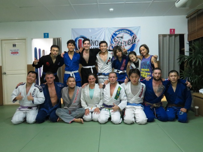 Great session with Arete Brazilian Jiu Jitsu, Bangkok, Thailand!