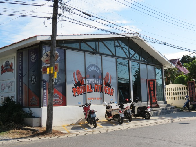 """""""Primal Fitness"""" on the corner of our little side street."""