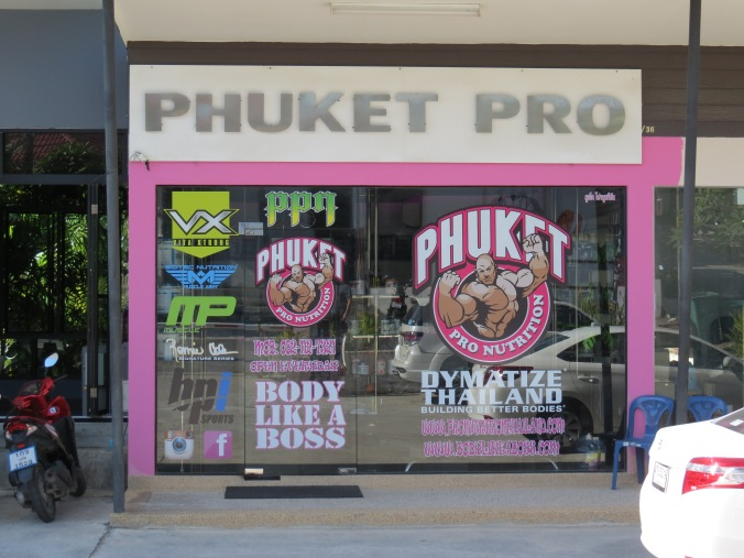 """Phuket Pro"" directly across the street from ""Primal Fitness"""