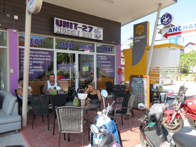"""The Mucle Bar"" Exactly next door to ""Phuket Pro""."
