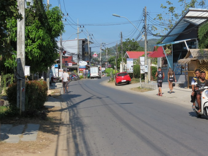 A view of Soi Tai Ied looking down the street.
