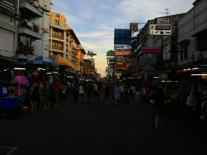 View down the length of Khao San Road.