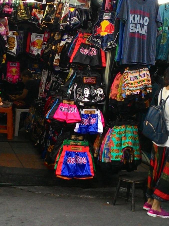 Muay Thai Shorts on Khao San Road.