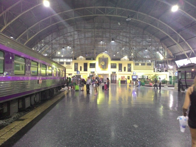 Catching the night train on the Thailand Express!