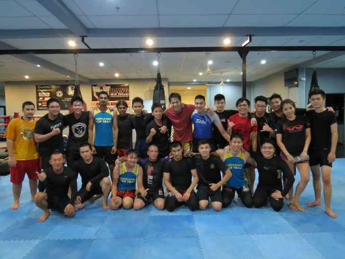 A big group at Kombative Fitness, Penang, Malaysia.