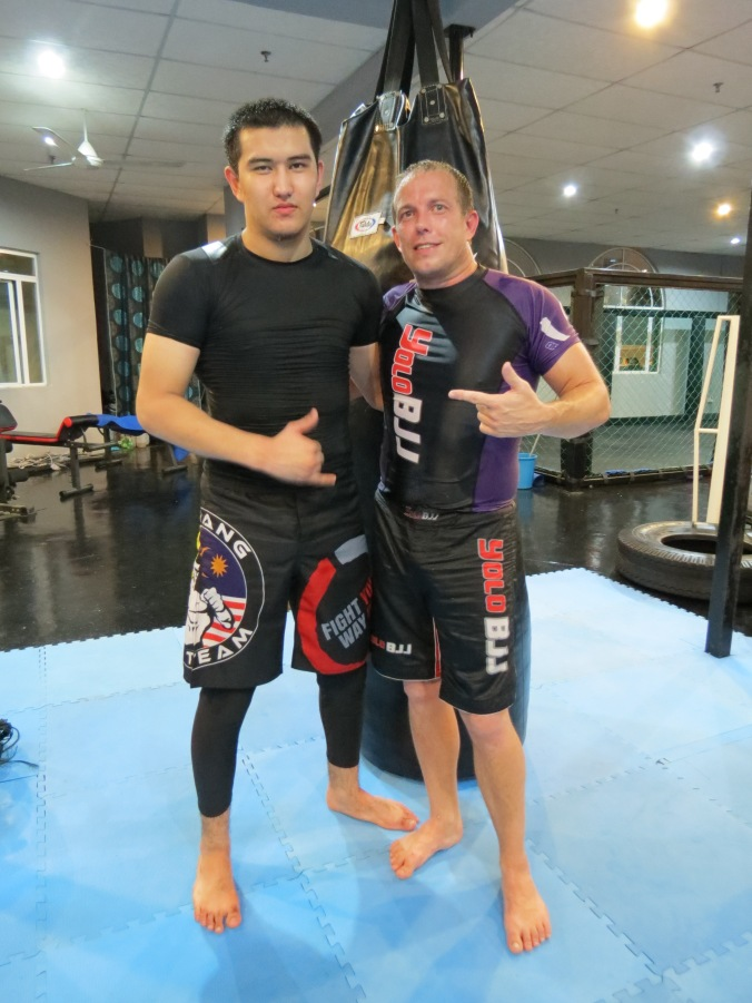 Myself and Head No-Gi Instructor Beksat.