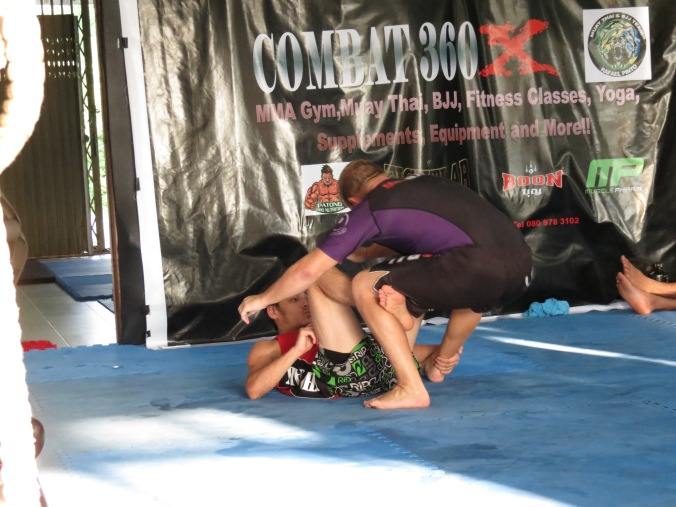Simple hook sweep leads to a ga-jillion ankle-locks