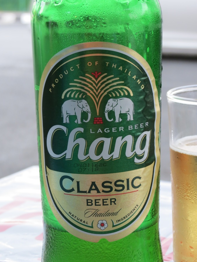 """Chang"" means elephant in Thai...BTW...it is the strongest beer in Thailand @ 5.5%"