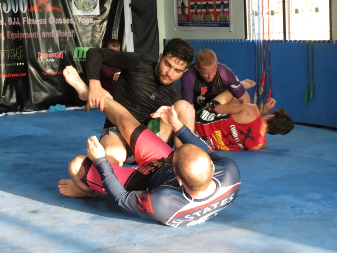 The hook sweep also leads to the leg-drag :-)