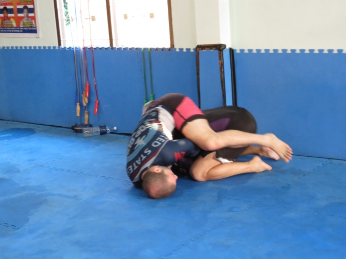 Eitan spins and flip over to the back from the Kimura trap!