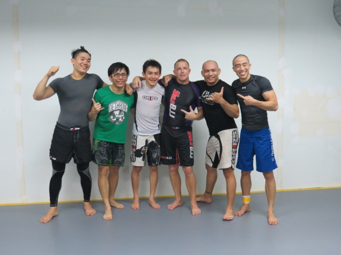 Post-training pic with the guys from Team Armada's Open Mat. Sorry we didn't get everyone in the pic! Oss!
