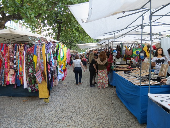You can get your souvenir fix at the fair that opens up near posto on weekends.