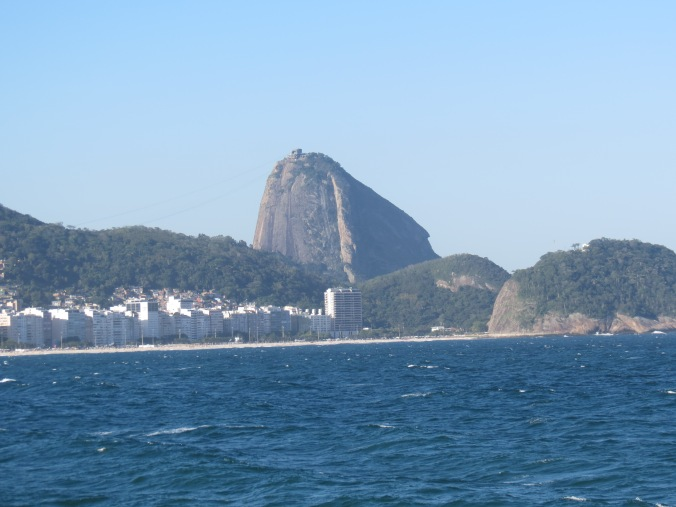 Great view of the Copa with Fort Leme to the far right and Pao de Azucar looking in the background.