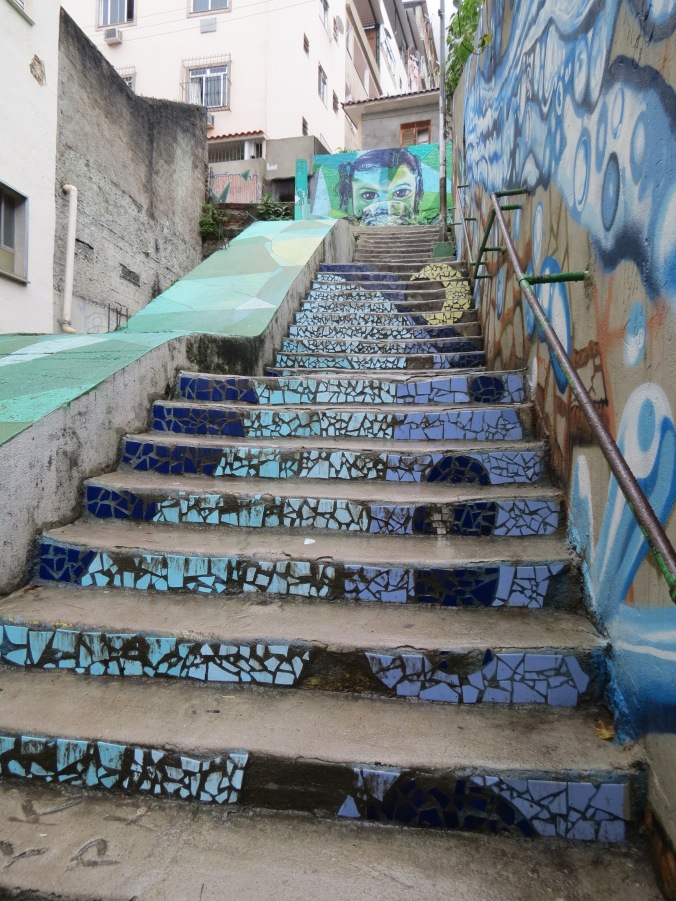 Tiles AND graffiti at Tabajaras favela (On the way to BJJ Traveler's hostel)