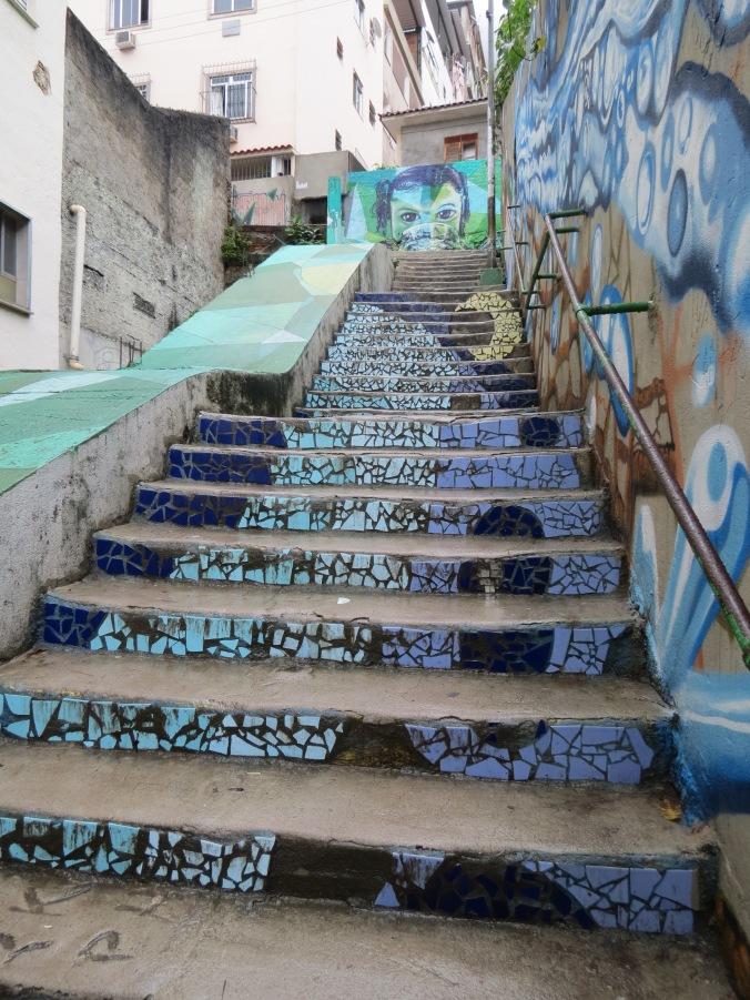 Tiles AND graffiti at Tabajaras favela (On the way to BJJ Traveler's hostel)