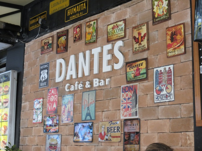 On the corer of Rua Pradoand Nossa Senhora, Dante's serve up a 1liter draught (choppe) for about $2.50, and the Filet with garlic is the best meal I had in Rio!!