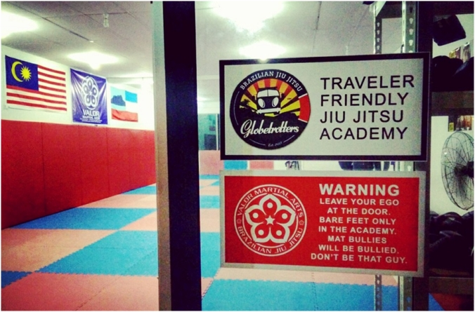 "Traveller friendly: BJJ Globetrotters affiliation means ""No Mat fees"" for the first week!"